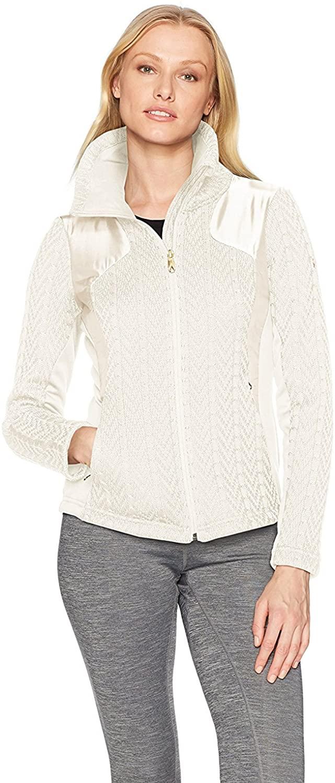 Spyder Women's Lolo Full Zip Mid Wt Stryke Jacket, Marshmallow, X-Small