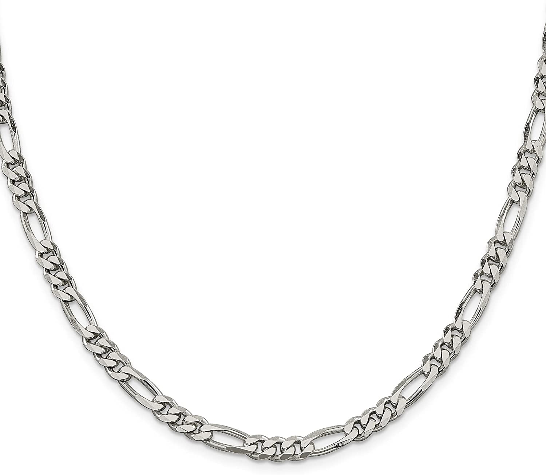 Sterling Silver Figaro Link Bracelet 8