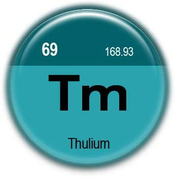 69 Thulium : Elements of the Periodic Table, Pinback Button Badge 1.50 Inch (38mm)