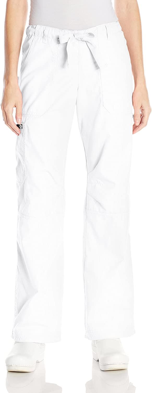 KOI Women's Lindsey Ultra Comfortable Cargo Style Scrub Pants, White, X-Large