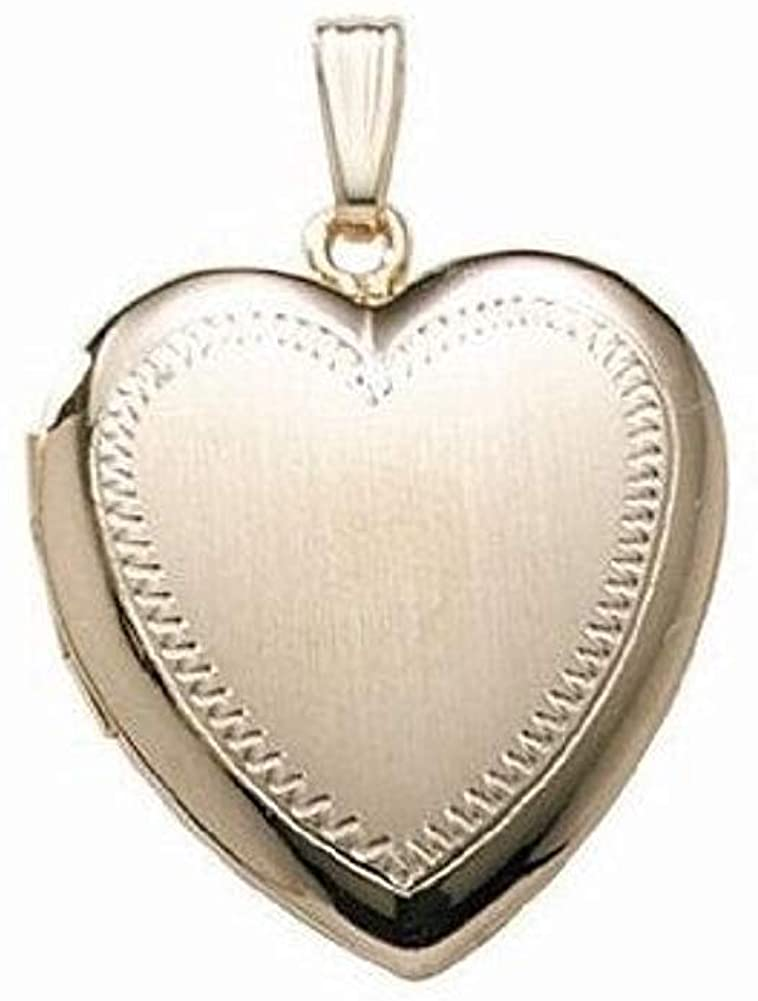 PicturesOnGold.com 14K Gold Filled Heart Locket 1 Inch X 1 Inch