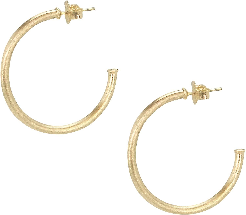 Sheila Fajl Petite Favorite Hoop Earrings in Champagne