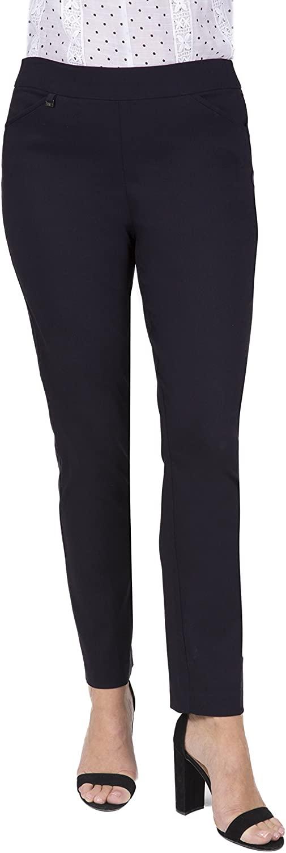 Fundamental Things Women's Tummy Control, Slim Leg Pull-on Pant Charm Detail