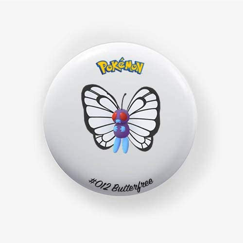 Butterfree #012 : Go, Pinback Button Badge 1.50 Inch (38mm)