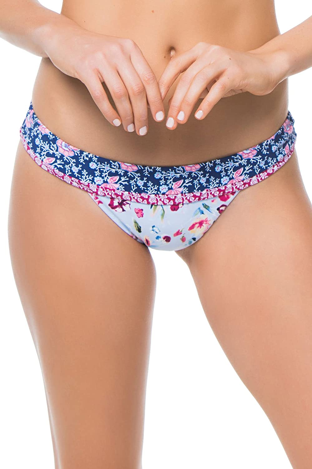 Lucky Brand Junior's Gypsy Floral Banded Hipster Bikini Bottom