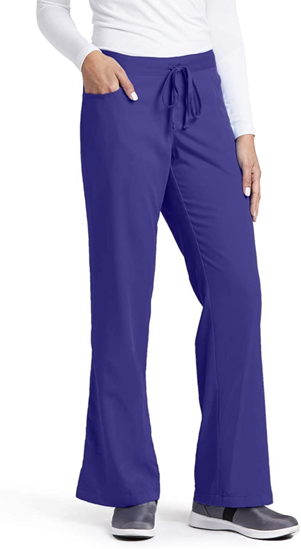Grey's Anatomy Women's Junior-Fit Five-Pocket Drawstring Scrub Pant - Large - Purple Rain