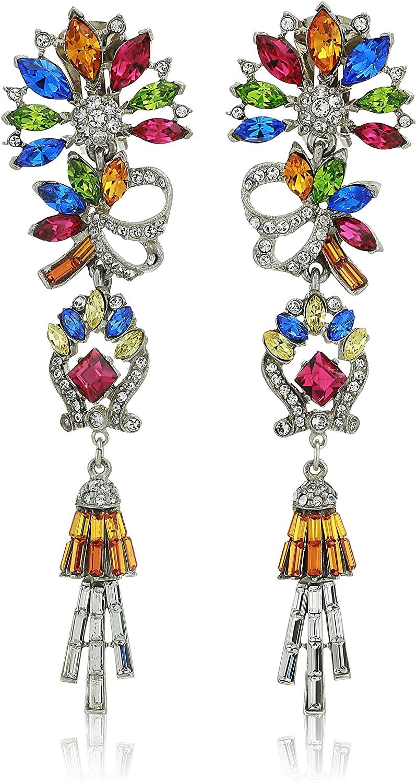Ben-Amun Jewelry Crystal Collage Swarovski Multi-Color Pendant Necklace, 18