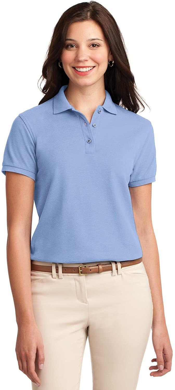 XtraFly Apparel Women's Silk Touch Polo Shirt L500 Light Blue