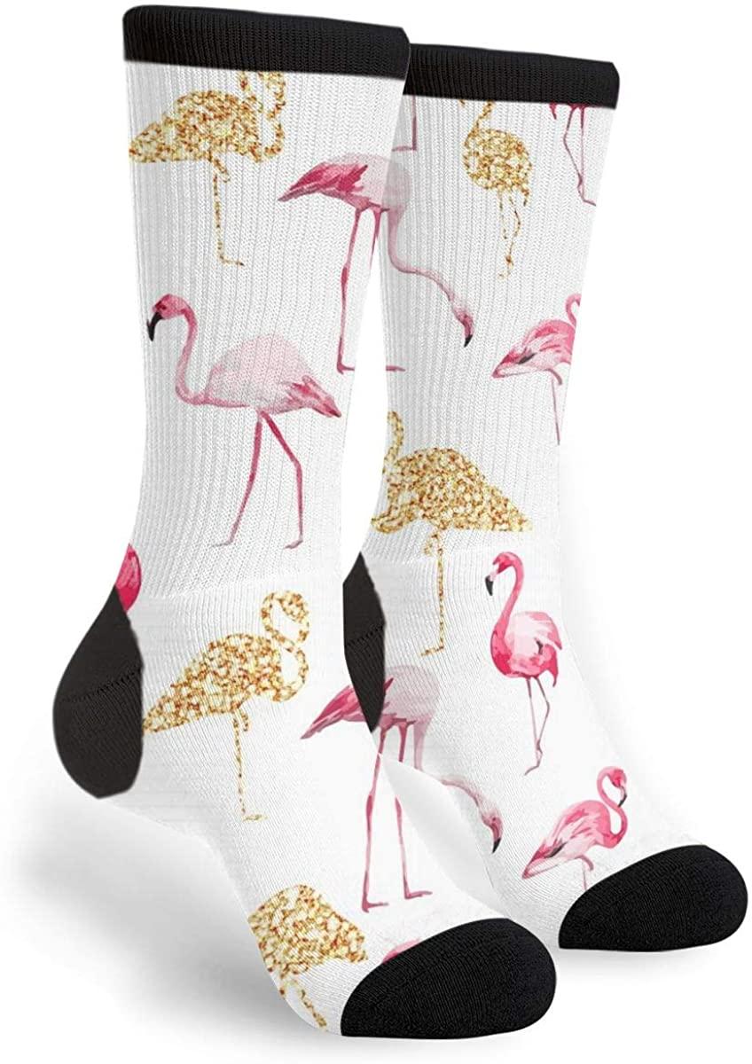 Flamingos Women'S Men'S Crew Socks Casual Fun Dress Socks Long Cute Socks