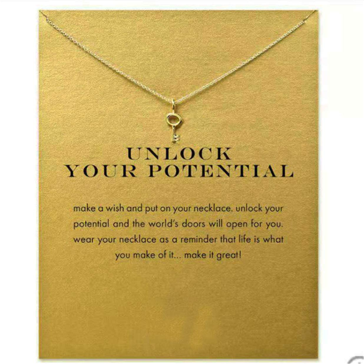 SEVENHOPE Women's Key Pendant Necklace - Simple Chic Dainty Choker Chain Short Necklace,Women Girlfriend Daughter Gift (with Card)