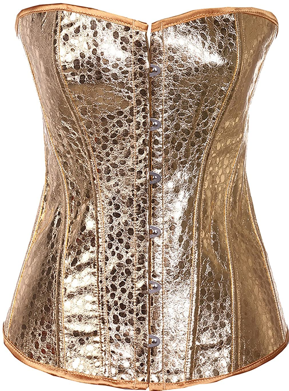 E-Shine CO Womens Sexy Slimmer Lace Up Overbust Corset Bustier s-6XL