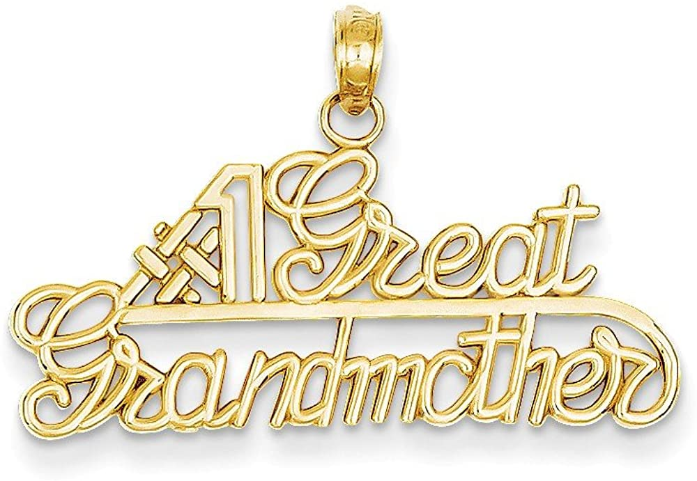 14k #1 Great Grandmother Charm