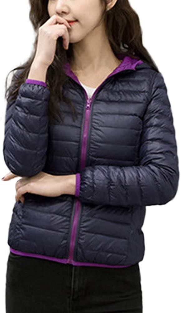Alovemi Womens Ultra Light Down Hooded Jacket Outwear Coat