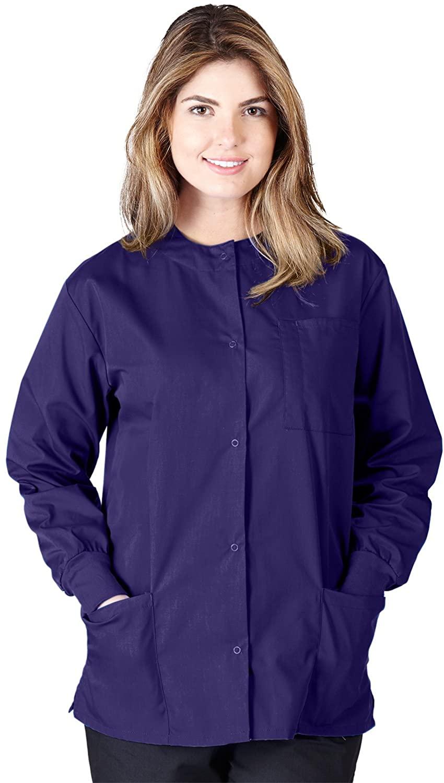 Natural Uniforms Women's Lightweight Workwear Warm Up Jacket (3X-Large, Purple)