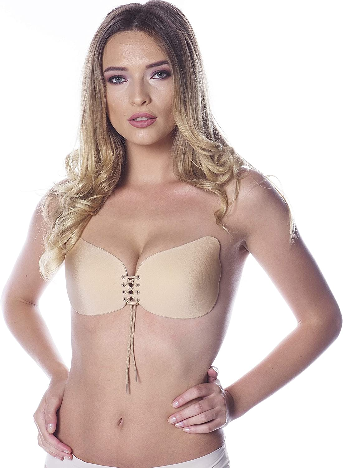 Stick on Bra Push Up - Strapless Sticky Backless Invisible Bra - Adhesive Silicone Lift Up Bra