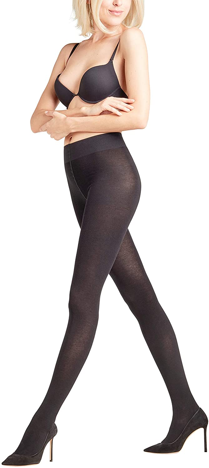 FALKE Womens Family Tights - 94% Cotton, In Black or Grey, S to XL, 1 Pair