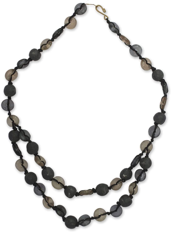NOVICA Brass Beaded Necklace, 18