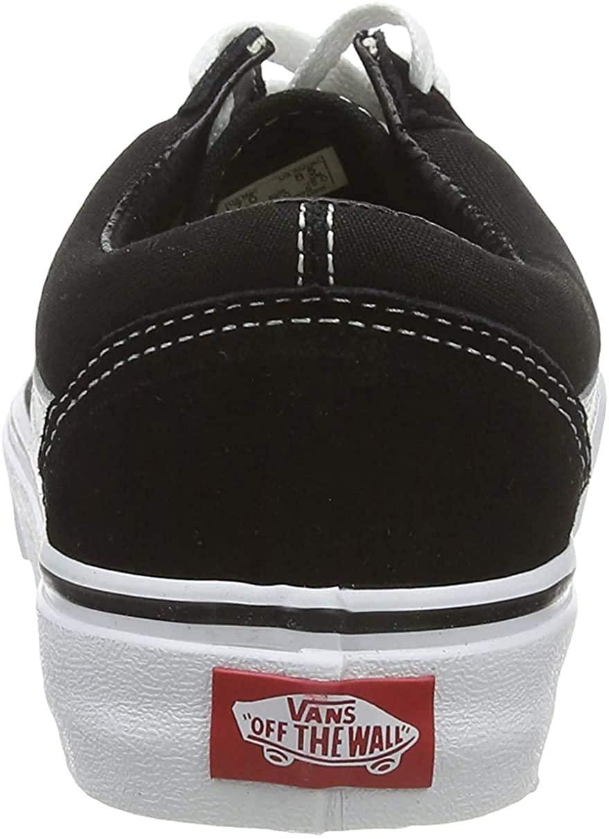 VANS VD3HY28 Unisex Old Skool Skate Shoes, Black/White, 6.5 B(M) US Women / 5 D(M) US Men