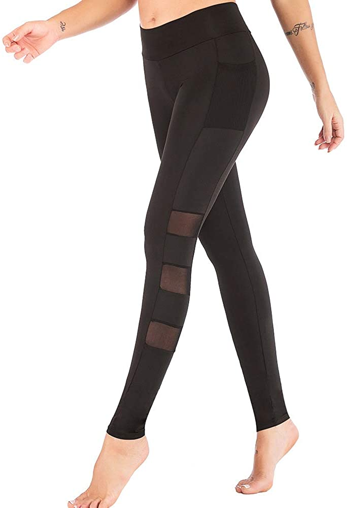 run wide Yoga Pants Leggings with Phone Pocket,High Waist Compression