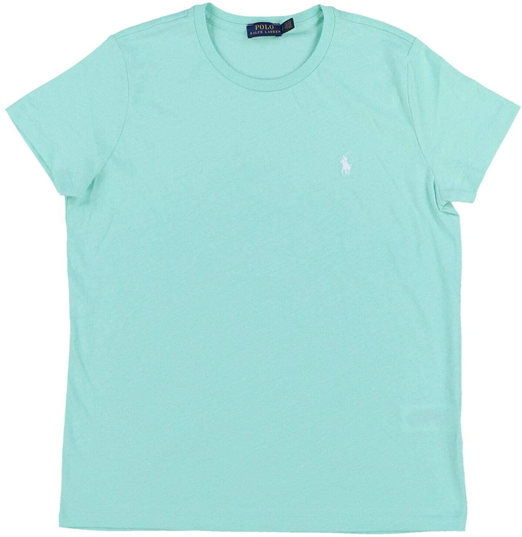Polo Ralph Lauren Womens T-Shirt Crew Neck Short Sleeve (Large, Seafoam Green)