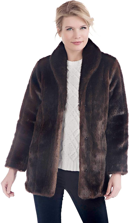 Donna Salyers Fabulous-Furs Shawl Collar Coat Sable