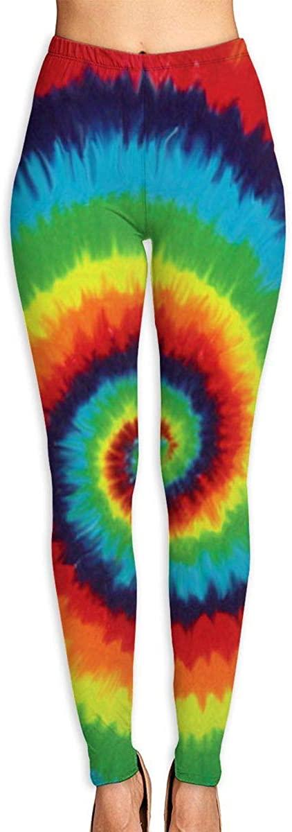 NOT Tie Dye Women's 3D Digital Print High Wait Leggings Yoga Workout Pants