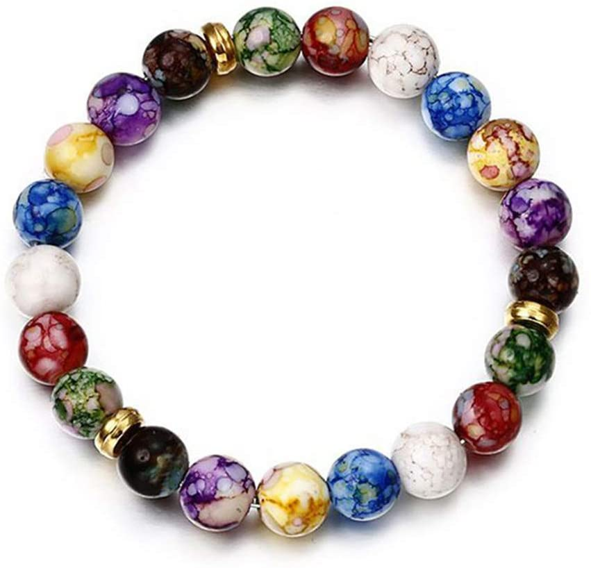 Meoliny Beaded Bracelets Multi Color Stretch Bangles Women Couple Jewelry Gift
