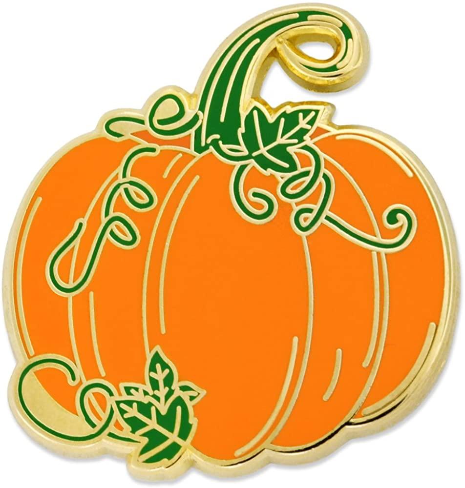 PinMart Pumpkin w/Vines Halloween Fall Autumn Enamel Lapel Pin