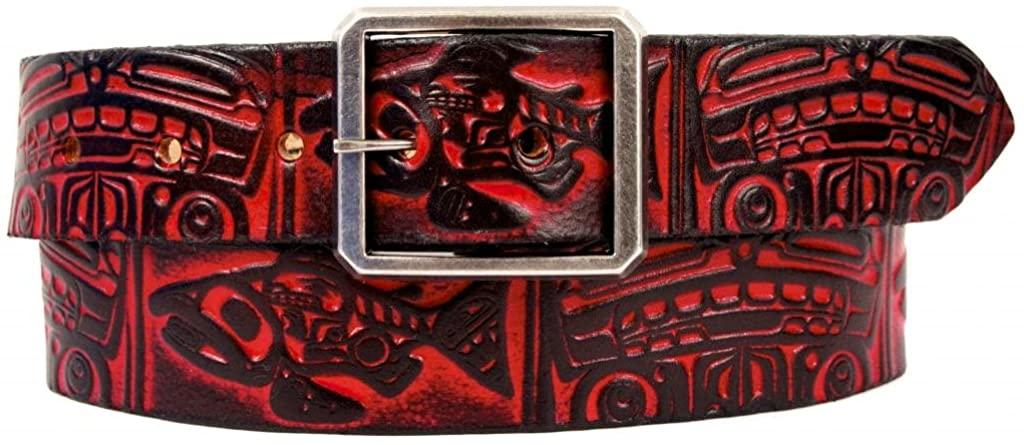 Marakesh Leather Women's Handmade Salmon and Bear Leather Belt