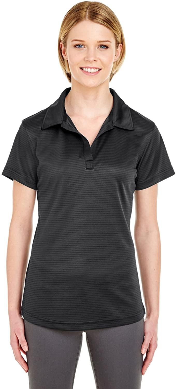 UltraClub womens Cool & Dry Jacquard Stripe Polo (8220L)