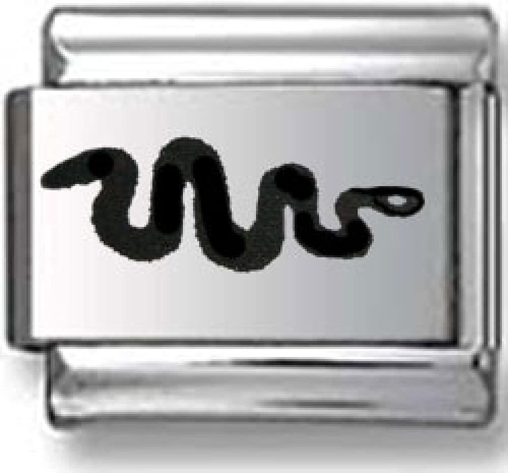 Snake Chinese Horoscope Sign Laser Italian charm