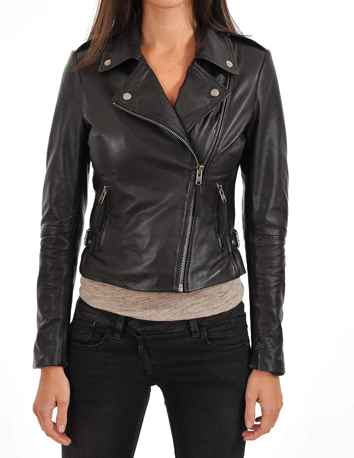 KAINAT Lambskin Leather Craft Women's Biker Jacket 195