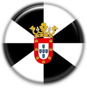 Ceuta : Spanish Autonomous Community Flag, Pinback Button Badge 1.50 Inch (38mm)