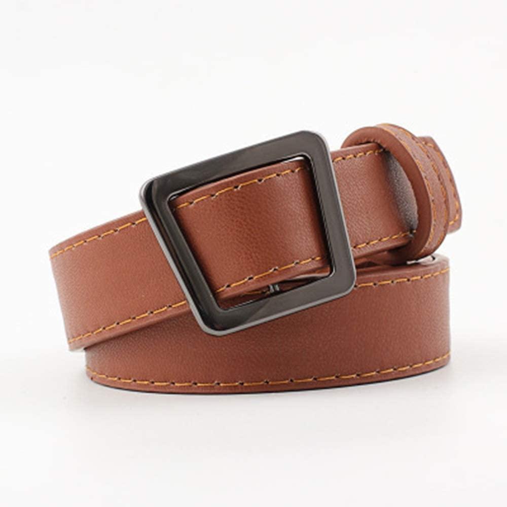 Amyannie-BE Waist Belt Vintage Buckle Free Punching Soft Student Fashion Decorative Belt Womens Belts (Color : Camel)