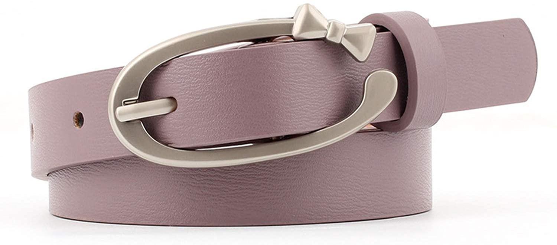 Pu Leather Pin Buckle Female Hollow Eyes Belt For Women Decoration Dress Coat