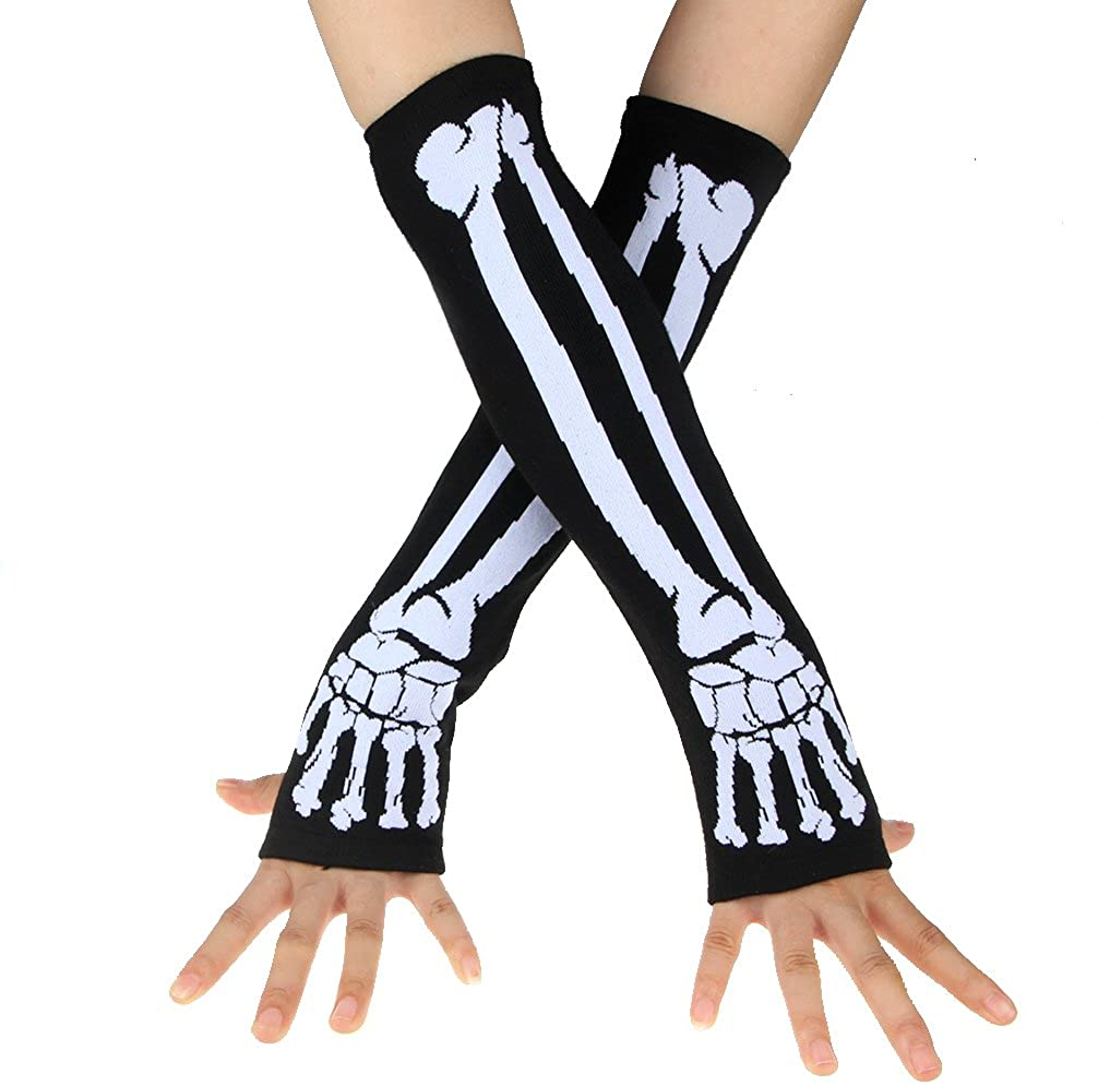 ECOSCO Hand Arm Warmers Stretchy Fingerless Gloves Costumes Accessories