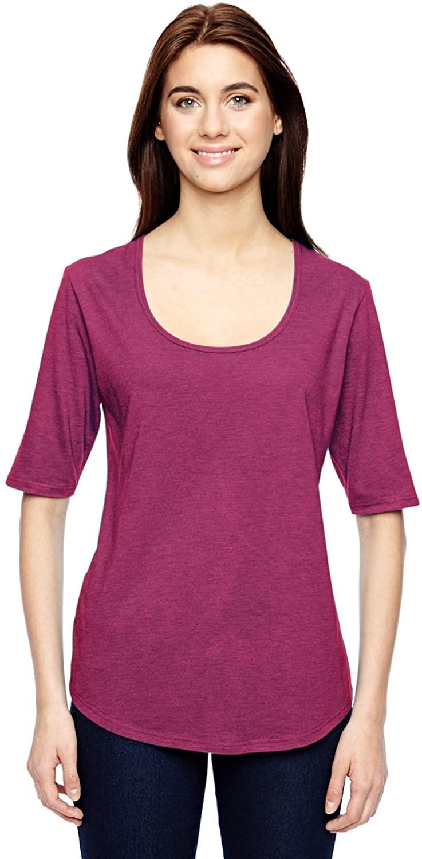 Anvil Ladies Tri-Blend Scoop 1/2-Sleeve T-Shirt