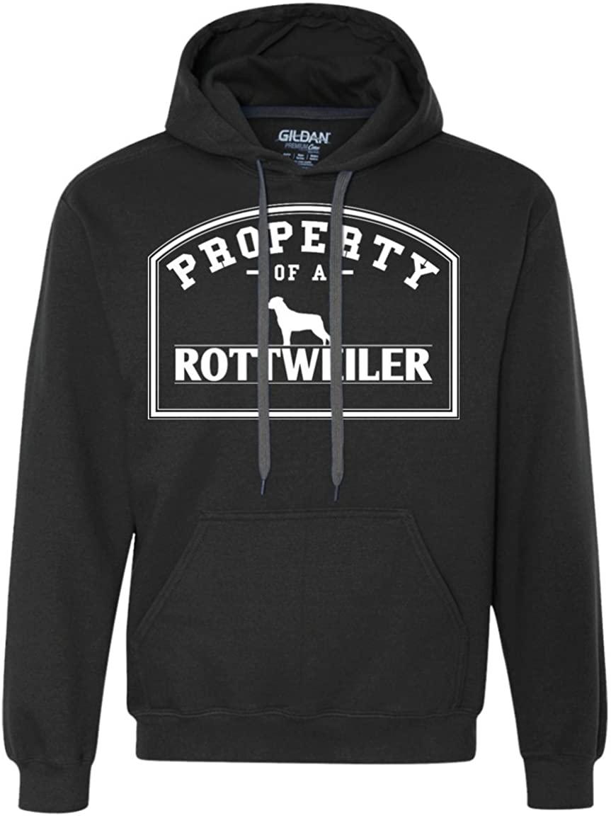 DrWigglebutts Rottweiler - Property of A Rottweiler - Heavyweight Pullover Fleece Sweatshirt