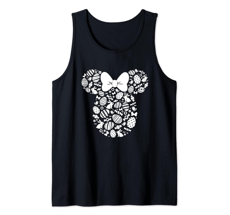 Disney Minnie Mouse Icon White Bunnies Easter Tank Top