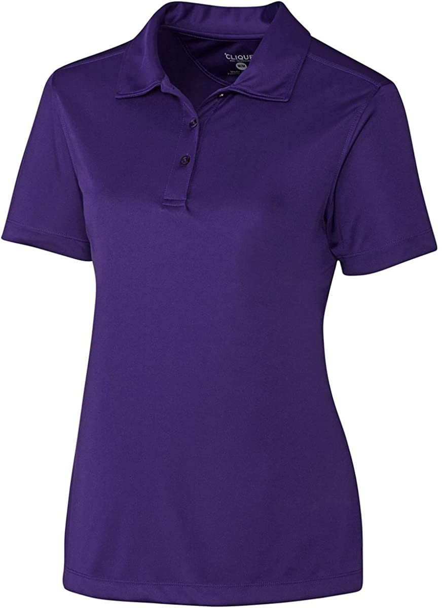 Clique Ladies Moisture Wicking Polyester Polo Shirt, College Purple, Small