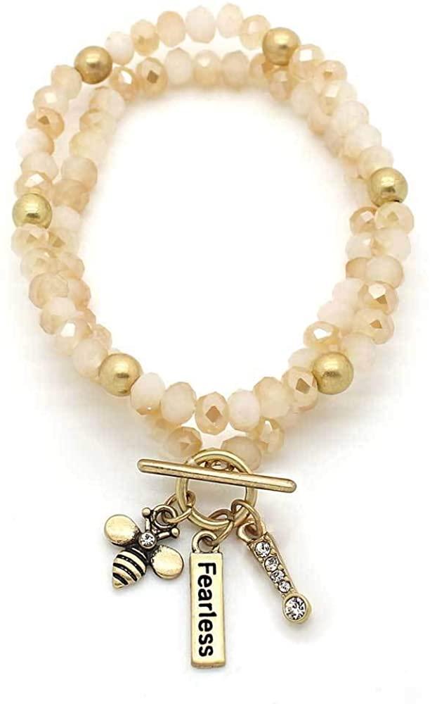 KIS-Jewelry Beaded Be Fearless| Hopeful| Strong| Yourself Beauties Bracelets