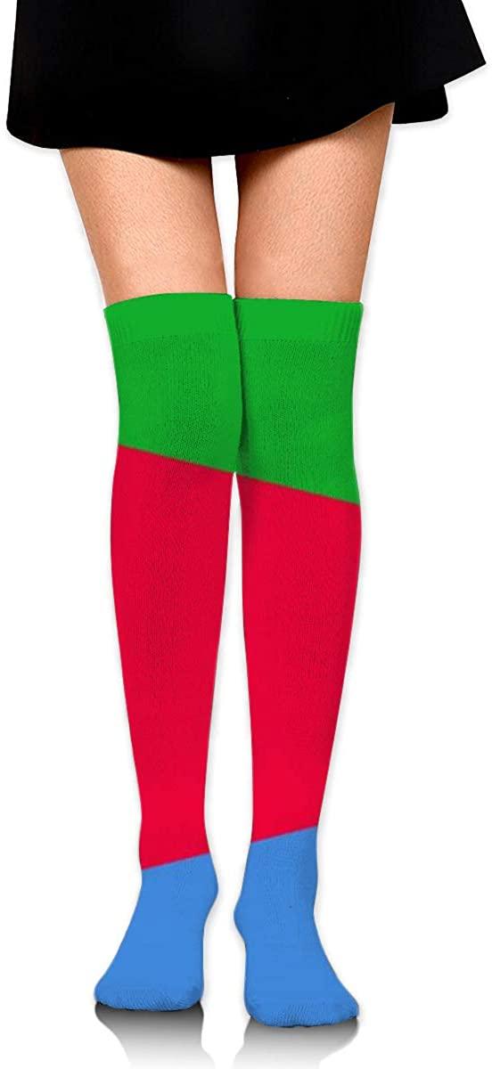 Dress Socks Eritrea Flag Long Knee Hose Novelty Hold-Up Stockings For Sports