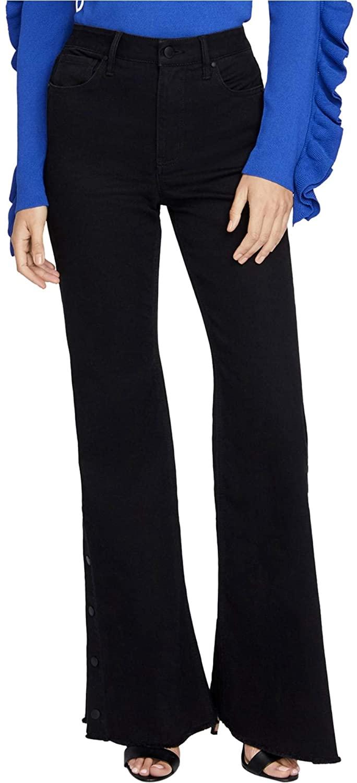 Rachel Roy Womens Snap Wide Leg Jeans