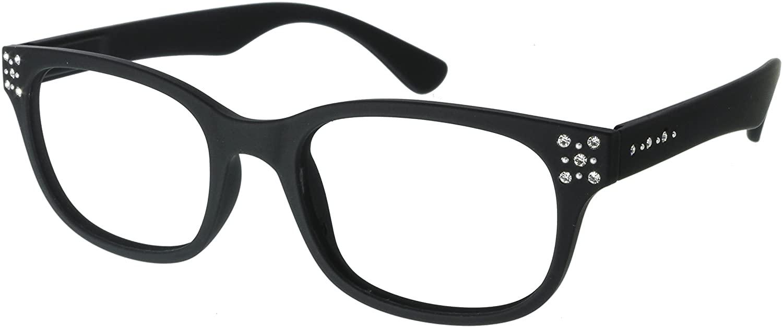 I NEED YOU Readers Diamond 2 Elegant Womens Reading Glasses +2.5 Black