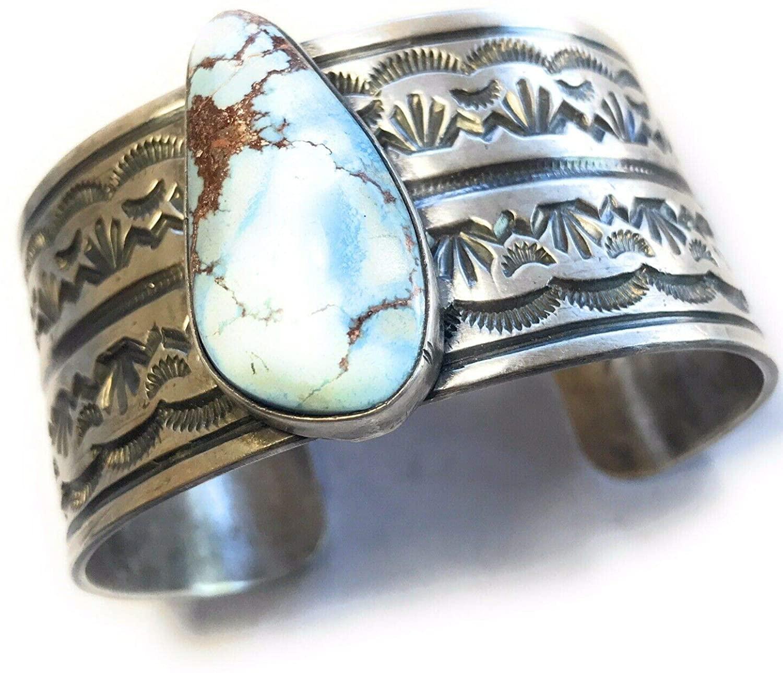 Nizhoni Traders LLC Golden Hill Turquoise Sterling Silver Bracelet Cuff