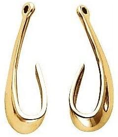 10K Yellow Earring Jackets | Earring Jacket | 10K Yellow | Pair | Polished | Earring Jackets