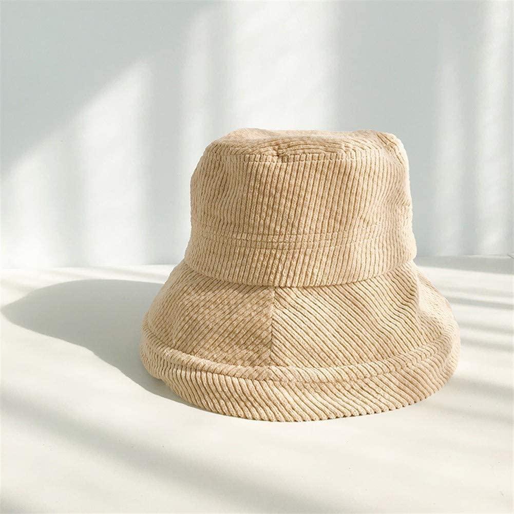 QinMei Zhou Corduroy hat Female Japanese Big Brim Sun hat Spring Wild Korean Version of The sub-Basin Hat Network Red ins