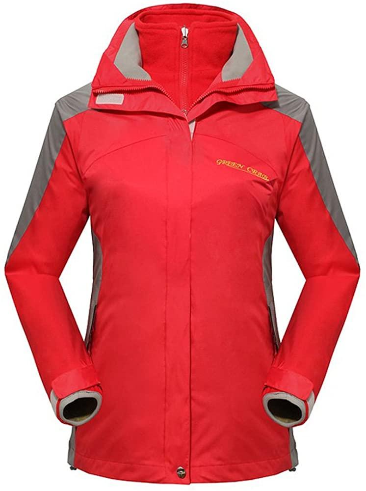 Topway Women's 3in1 Outdoor Windproof Waterproof Camping Hiking Lady Jacket Coat