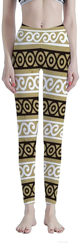 Tamengi High Waisted Leggings for Women, Ethnic Style Tummy Control Workout Yoga Pants
