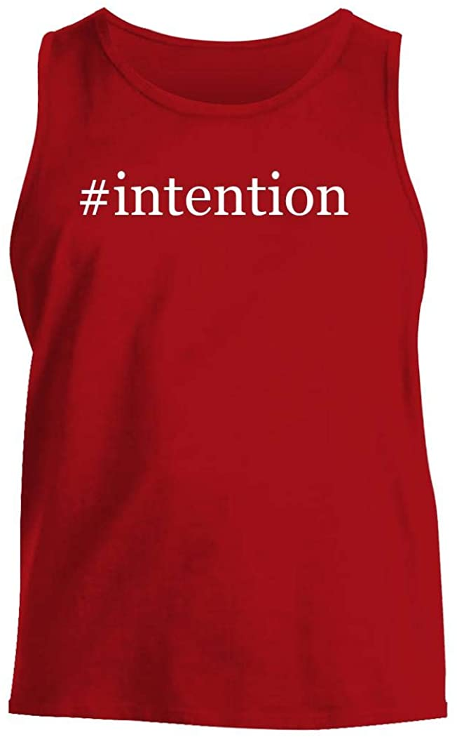 #intention - Men's Hashtag Comfortable Tank Top, Red, Large